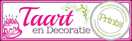 Taart en decoratie prints