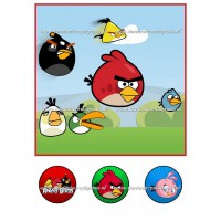 Frosting - Angry Birds 1 - 20x20cm