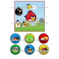 Frosting - Angry Birds 1 - 15x15cm