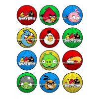 Frosting - Angry Birds Cupcakes - 6cm