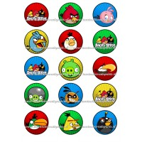 Frosting - Angry Birds Cupcakes - 5cm