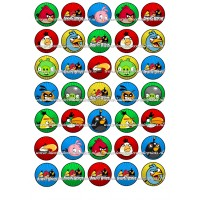 Frosting - Angry Birds Mini Cupcakes - 3,5cm