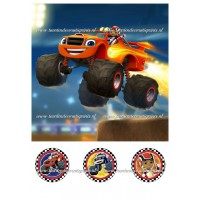 Frosting - Blaze en de Monstertrucks 1 - 20x20cm