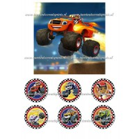 Frosting - Blaze en de Monstertrucks 1 - 15x15cm
